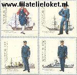 POR 1588#1591 Postfris 1983 Militaire uniformen