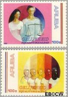 Aruba AR 106#107  1992 Gelijkheid  cent  Gestempeld