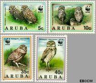 Aruba AR 134#137  1994 Wereld Natuur Fonds  cent  Gestempeld