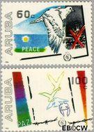 Aruba AR 16#17  1986 Internationaal Jaar van de Vrede  cent  Postfris