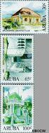 Aruba AR 193#195  1997 Architectuur  cent  Gestempeld