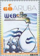 Aruba AR 283  2002 Water- en energiebedrijf 60 cent  Gestempeld