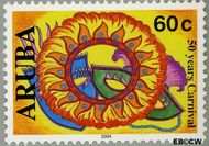 Aruba AR 313  2004 Carnaval 60 cent  Gestempeld