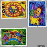 Aruba AR 313#315  2004 Carnaval  cent  Gestempeld