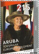 Aruba AR 339e  2005 Regeringsjubileum Koningin Beatrix 215 cent  Gestempeld