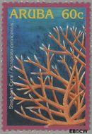 Aruba AR 348  2005 Koraal 60 cent  Gestempeld