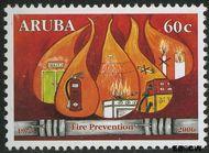 Aruba AR 366  2006 Brandweer 75 cent  Gestempeld