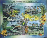 Aruba AR 380  2007 Wrakken in het rif  cent  Gestempeld