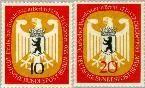 Berlin ber 129#130  1955 Zitting Bondsdag in Berlijn  Postfris