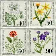 Berlin ber 629#632  1980 Bedreigde planten  Postfris