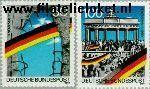 Bundesrepublik BRD 1481#1482  1990 Val Berlijnse muur  Postfris