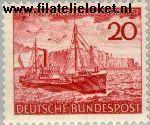 Bundesrepublik BRD 152#  1952 Helgoland  Postfris