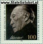 Bundesrepublik BRD 1601#  1992 Adenauer, Dr. Konrad  Postfris