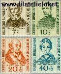 Bundesrepublik BRD 222#225  1955 Bekende personen  Postfris