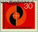 Bundesrepublik BRD 679  1971 Oekoemenische pinksterbijeenkomst  Postfris