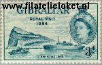 Gibraltar gib 148#  1954 Koningin Elizabeth- Bezoek  Postfris