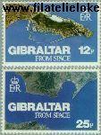 Gibraltar gib 371#372  1978 Gibraltar uit de ruimte  Postfris