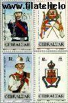 Gibraltar gib 565#568  1989 Regiment Gibraltar  Postfris