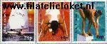 Gibraltar gib 715#717  1995 Island Games  Postfris