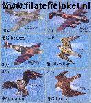 Gibraltar gib 939#944  2000 Valken en jachtvliegtuigen  Postfris