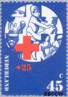 Nederland NL 1019  1972 Rode Kruis 45+25 cent  Gestempeld