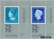 Nederland NL 1101-1102  1976 Int. Postzegeltentoonstelling Amphilex '77  cent  Postfris