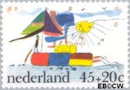 Nederland NL 1104  1976 Kindertekeningen 45+20 cent  Gestempeld