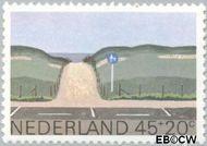 Nederland NL 1194  1980 Landschappen 45+20 cent  Gestempeld