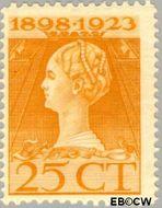 Nederland NL 126  1923 Koningin Wilhelmina- Regeringsjubileum 25 cent  Gestempeld