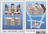 Nederland NL 1273#1274  1982 Paleis op de Dam  cent  Gestempeld