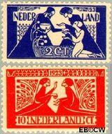Nederland NL 134#135  1923 Tooropzegels   cent  Ongebruikt