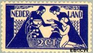 Nederland NL 134  1923 Tooropzegels 2+5 cent  Gestempeld