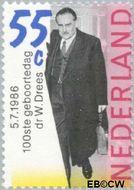 Nederland NL 1358  1986 Drees, Dr. W. 55 cent  Gestempeld