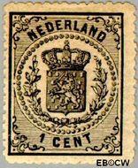 Nederland NL 14  1869 Rijkswapen 1 cent  Gestempeld