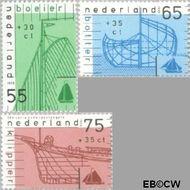 Nederland NL 1424#1426  1989 Schepen  cent  Postfris