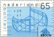 Nederland NL 1425  1989 Schepen 65+35 cent  Gestempeld