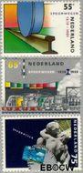 Nederland NL 1430#1432  1989 Spoorwegen  cent  Gestempeld