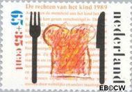 Nederland NL 1436  1989 Rechten Kind 65+35 cent  Gestempeld