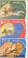 Nederland NL 1457#1459  1990 Kind en hobby  cent  Gestempeld