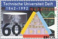 Nederland NL 1515  1992 Technische Universiteit Delft 60 cent  Gestempeld