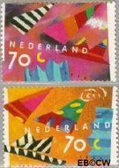 Nederland NL 1546#1547  1993 Wenszegels  cent  Gestempeld