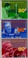 Nederland NL 1653#1655  1995 Nobelprijswinnaars  cent  Gestempeld