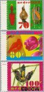 Nederland NL 1668#1670  1996 Voorjaarsbloemen  cent  Gestempeld
