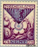 Nederland NL 167  1925 Provinciewapens 7½+3½ cent  Gestempeld
