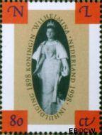 Nederland NL 1778a  1998 Koningin Wilhelmina- Inhuldiging 80 cent  Gestempeld