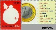 Nederland NL 1808#1809  1999 Het kwartje en de Euro  cent  Gestempeld
