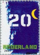 Nederland NL 1951#  2001 Bijplakzegel  cent  Gestempeld