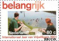 Nederland NL 1968b  2001 Vrijwilligerswerk 80 cent  Gestempeld