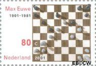 Nederland NL 1969a  2001 Euwe, Max 80 cent  Postfris