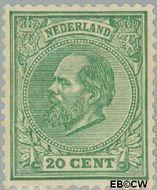 Nederland NL 24  1872 Koning Willem III- 5e emissie 20 cent  Gestempeld